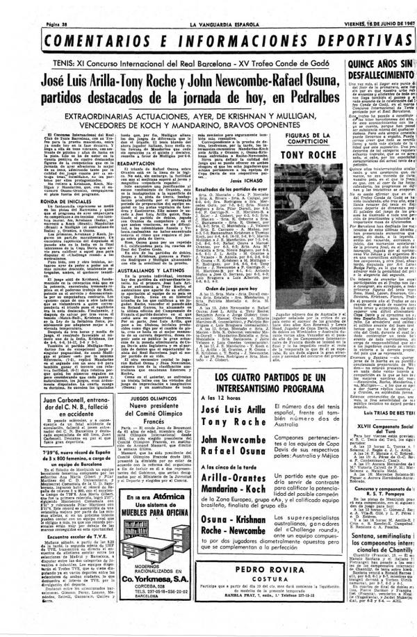 1967 La Vanguardia 16 de junio