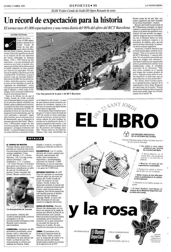 1995 La Vanguardia 17 abril