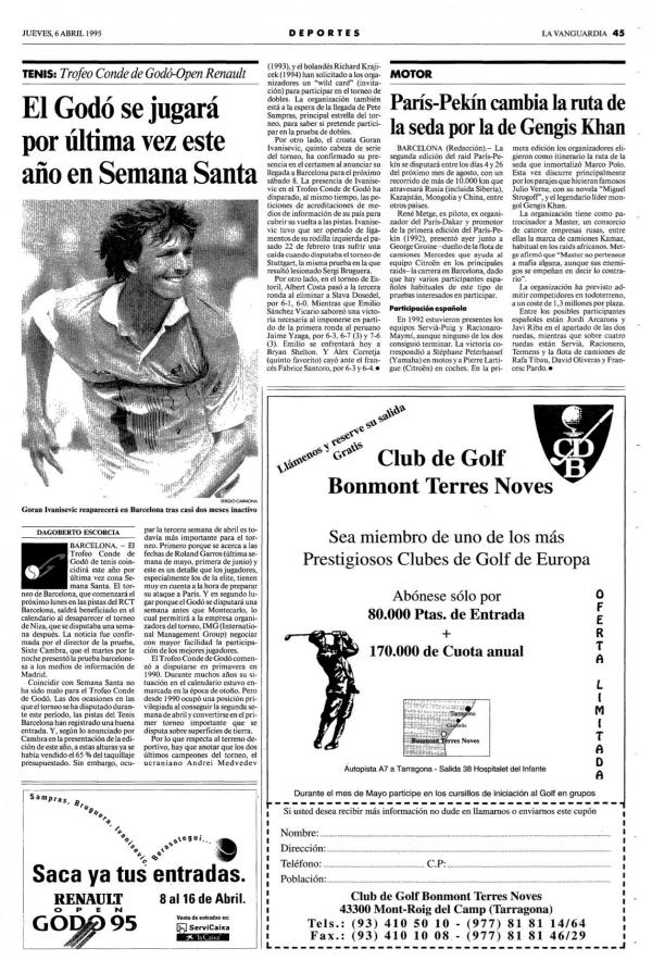 1995 La Vanguardia 6 abril