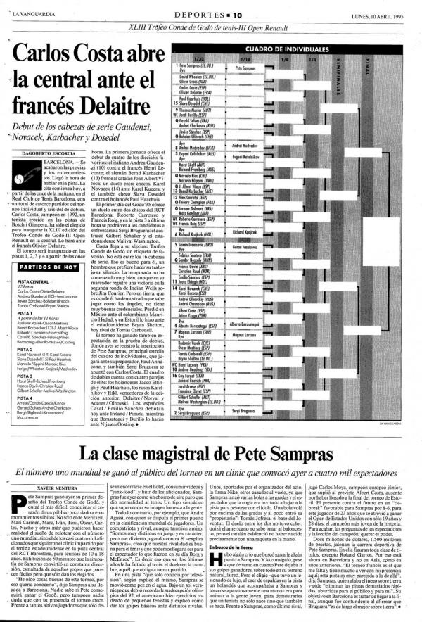 1995 La Vanguardia 10 abril