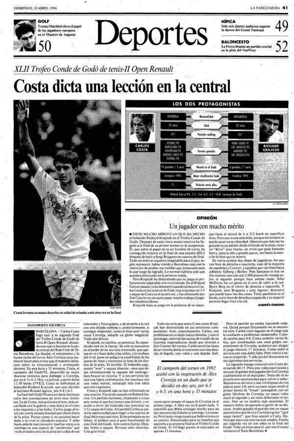 1994 La Vanguardia 10 abril