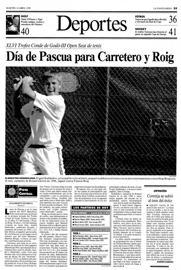 1998 La Vanguardia 14 abril