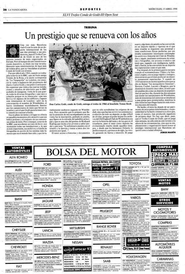 1998 La Vanguardia 15 abril
