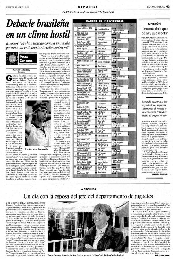 1998 La Vanguardia 16 abril
