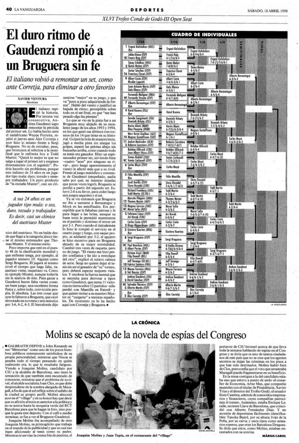1998 La Vanguardia 18 abril