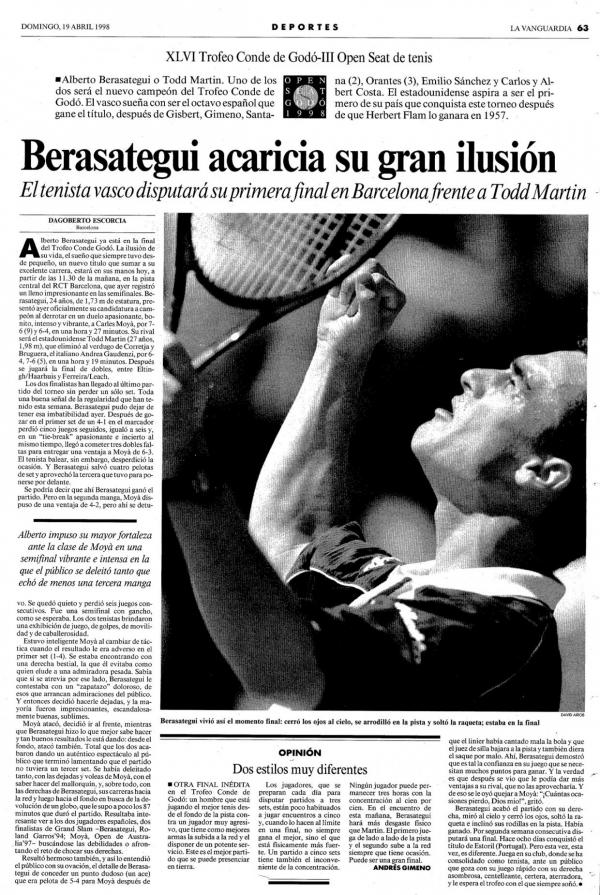 1998 La Vanguardia 19 abril