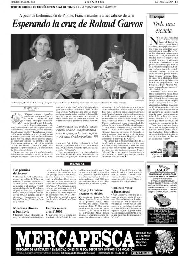2001 La Vanguardia 24 abril