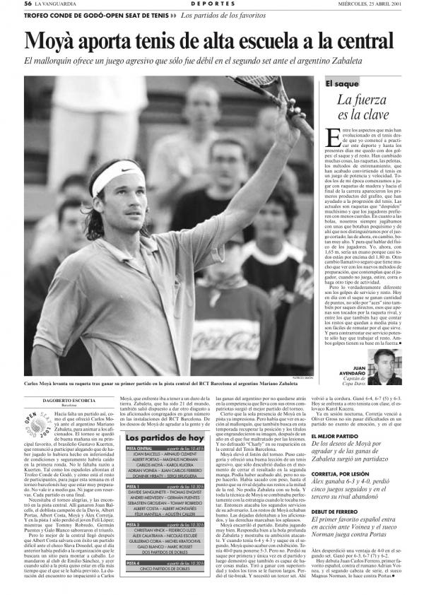 2001 La Vanguardia 25 abril