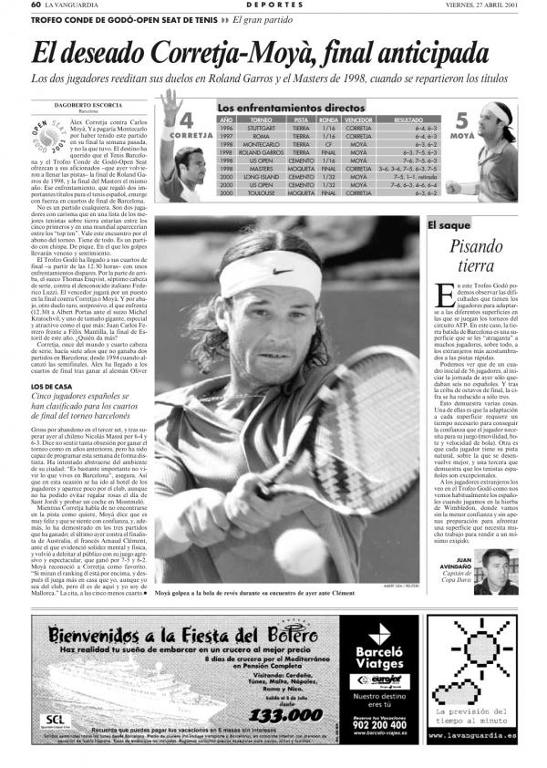 2001 La Vanguardia 27 abril