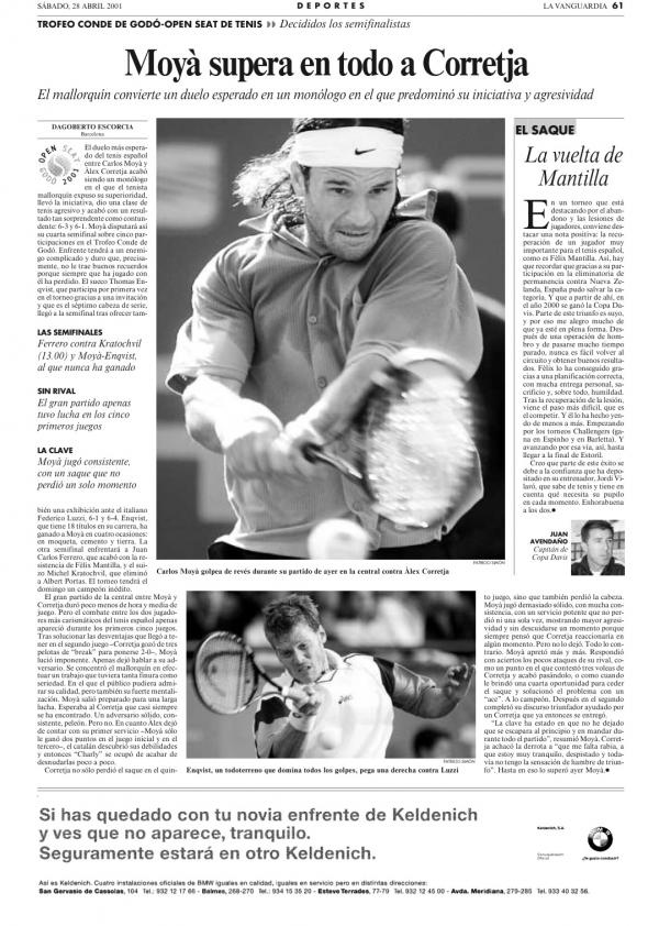2001 La Vanguardia 28 abril