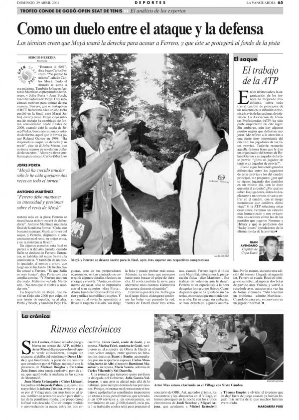 2001 La Vanguardia 29 abril