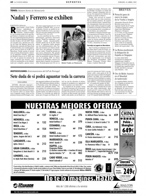 2005 La Vanguardia 16 abril