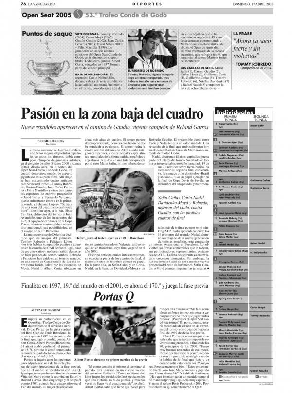 2005 La Vanguardia 17 abril