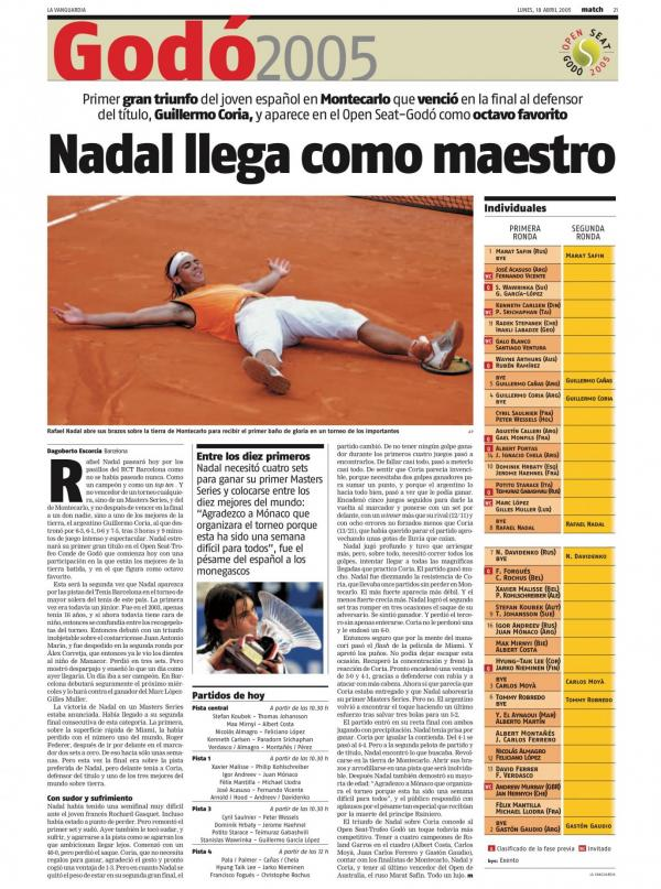 2005 La Vanguardia 18 abril