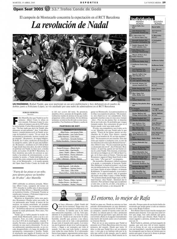 2005 La Vanguardia 19 abril