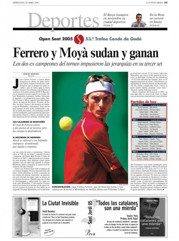 2005 La Vanguardia 20 abril
