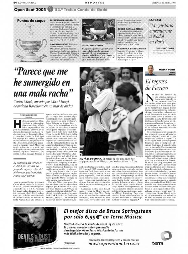 2005 La Vanguardia 22 abril