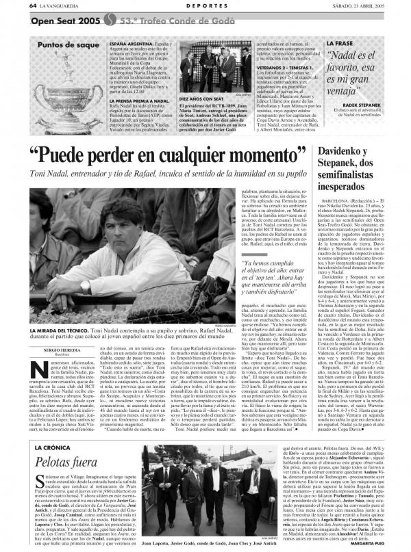 2005 La Vanguardia 23 abril