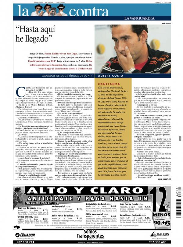 2006 La Vanguardia 22 abril