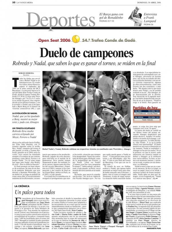 2006 La Vanguardia 30 abril