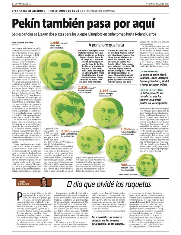 2008 La Vanguardia 25 abril