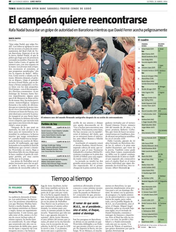 2014 La Vanguardia 21 abril