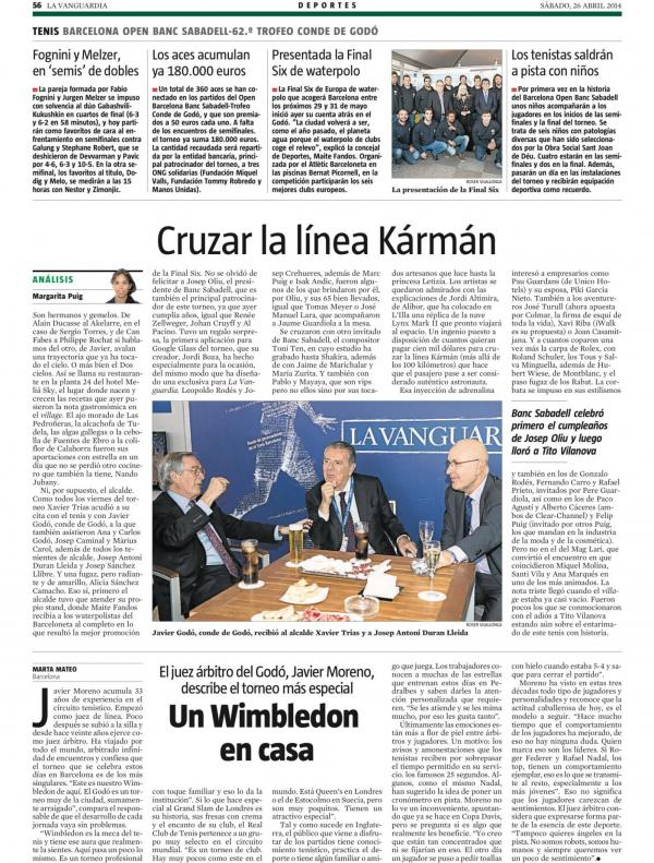 2014 La Vanguardia 26 abril